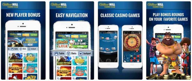 ウィリアムヒルカジノ アプリ画面