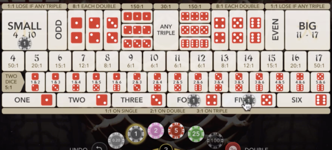 sicbo-bettingboard