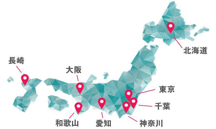 カジノ法案 候補地マップ