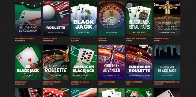 ニトロカジノ テーブルゲーム