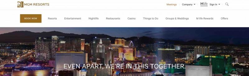 MGMリゾーツインターナショナル サイトページ