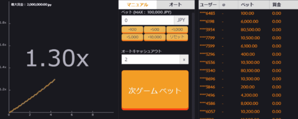 バスタビットプレイ画面詳細