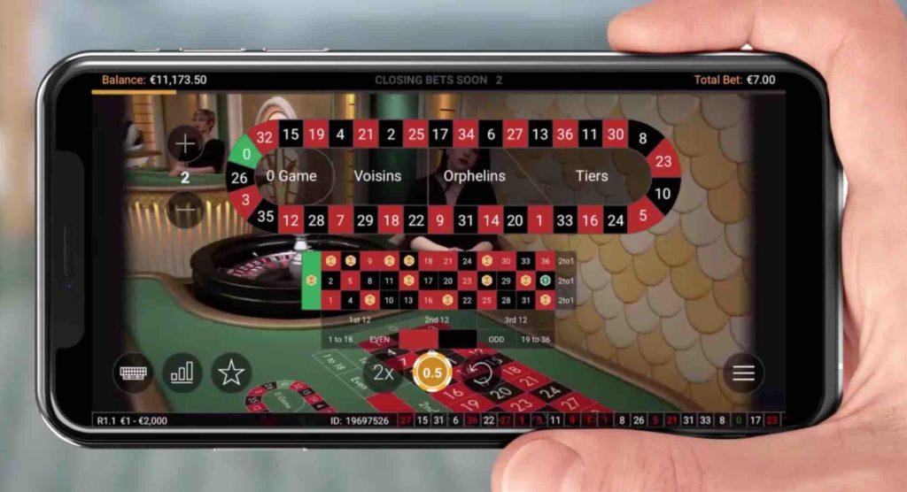 プラグマティンクプレイ ライブカジノ モバイル画面