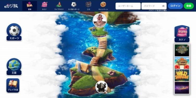 カジ旅王国 冒険 地図画面